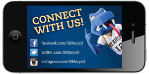 StMU Social Media magnet with links