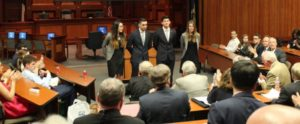 Students in the 2016 NIBS Case Competition finals