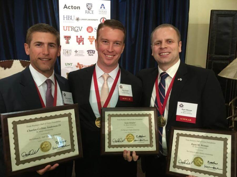 Three to receive Texas Business Hall of Fame scholarships
