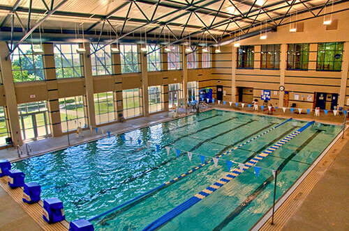 Indoor pool at St. Mary's University