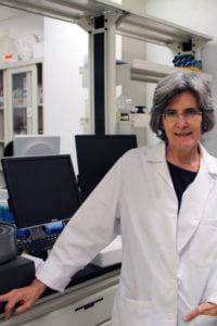 Colette Daubner in her research lab