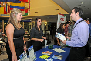 Student asking about internship and career opportunities for Finance and Risk Management majors