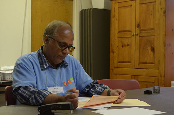 Prasad Padmanabhan, Ph.D., volunteers for the VITA program.