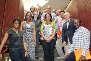 Group photo of visitors from the International Visitor Leadership Program