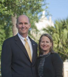 President Tom Mengler and his wife Mona