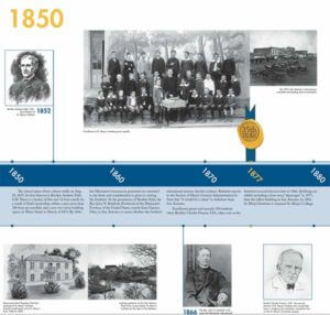 Page one of StMU History as a Timeline