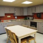 Full kitchen inside Treadaway Hall