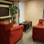 Student lounge in Treadaway dorm