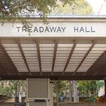 Treadaway Hall entrance sign