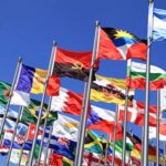 Image of flags waving