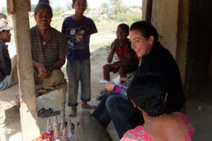 Professor Kathleen Gallagher conducting research in Nepal
