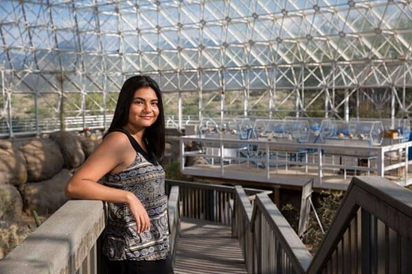 Alex Salinas in the biosphere