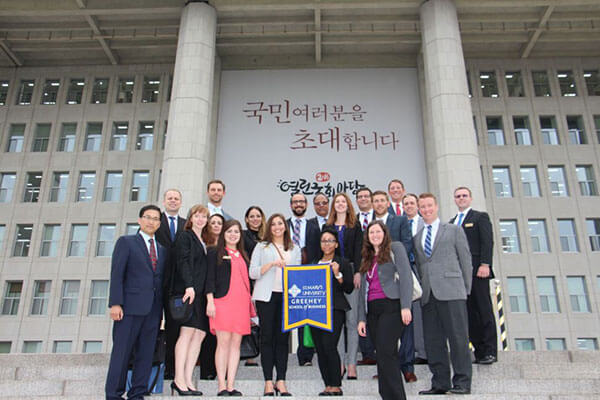 This summer, Greehey MBA students embarked on a 10-day international field study trip to South Korea.