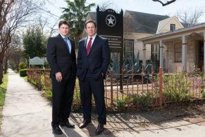 Attorneys Jeb Lock, left, and Sam Lock