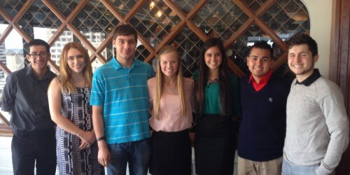 St. Mary's students at the San Antonio Business and Economics Society Luncheon