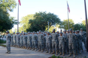 ROTC members at Veterans' Day ceremony