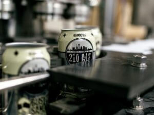 Cans of 210 Ale