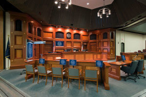 St. Mary's University School of Law courtroom