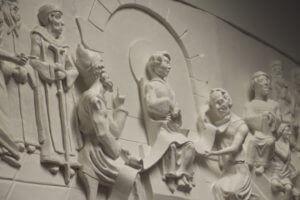 Christ Among the Doctors sculpure