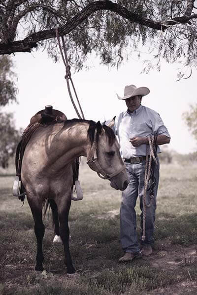 Rick Ramirez and his horse