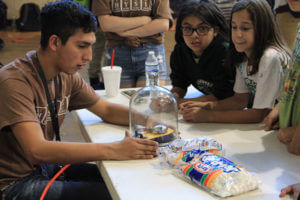 Students conducting a physics experiment