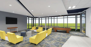 A 3-D look at the inside of the new residence hall in The Village.