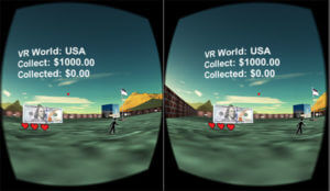 In-game screenshot of Currency Collector VR.