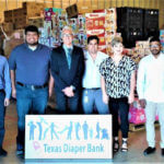 Industrial Engineering graduate student Ali Aljubran at the Texas Diaper Bank.