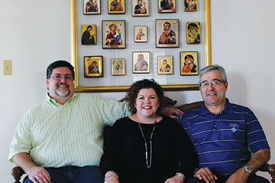 Brother Jose Julian Matos-Auffant, S.M., St. Mary's Minister for Spiritual Development, (from left) ; Rosalind Alderman, Ph.D., St. Mary's Vice Provost for Enrollment Management; and St. Mary's Trustee Brother Reinaldo Berrios, S.M., visit Colegio San José.