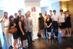 A group of St. Mary's students visits a Chinese law firm.