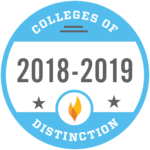 Colleges of Distinction 2018-2019 badge