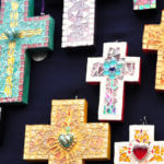 Handmade Mexican mosaic crosses