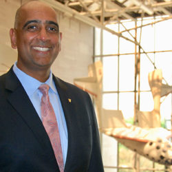SET alum Ravi Chaudhary (M.S. '99) at the Air and Space Museum