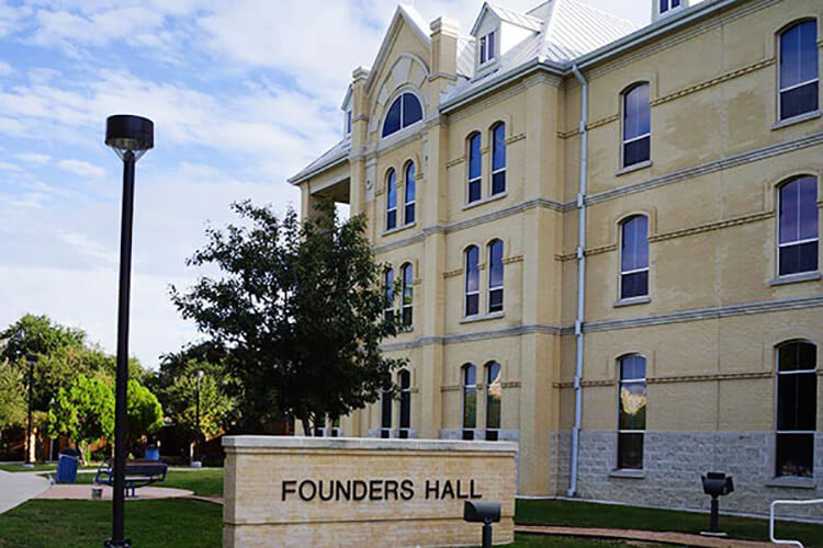 Front exterior view of Founders Hall