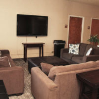 Common lounge in Marian residence hall