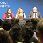 A panel discusses sex trafficking in 2018.