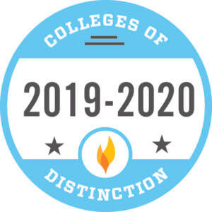 Colleges of Distinction 2019-2020 badge