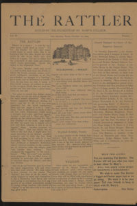 The first issue of The Rattler student newspaper in 1924.